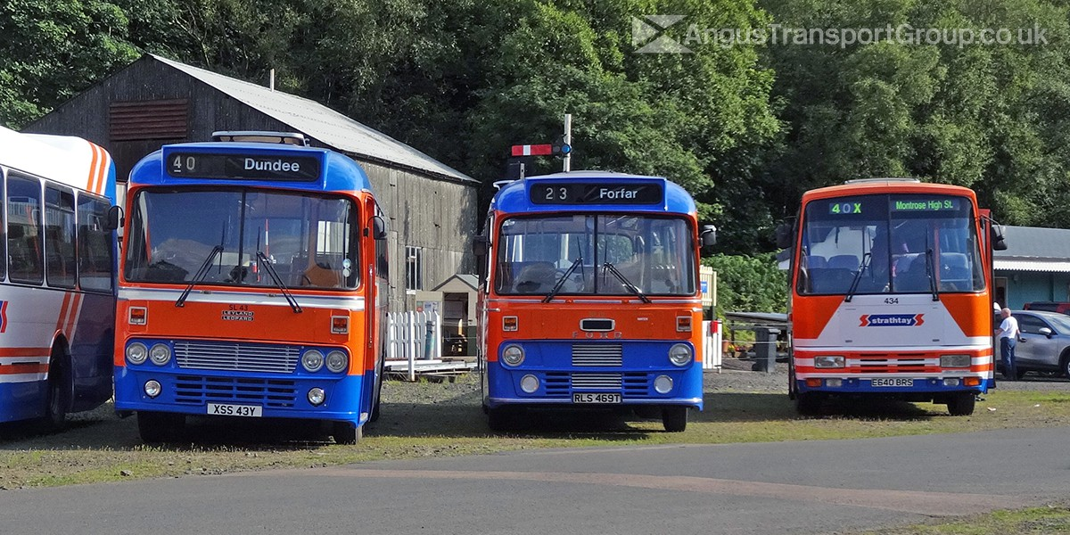 XSS43Y, RLS469T and E640BRS at Scottish Vintaghe Bus Museum